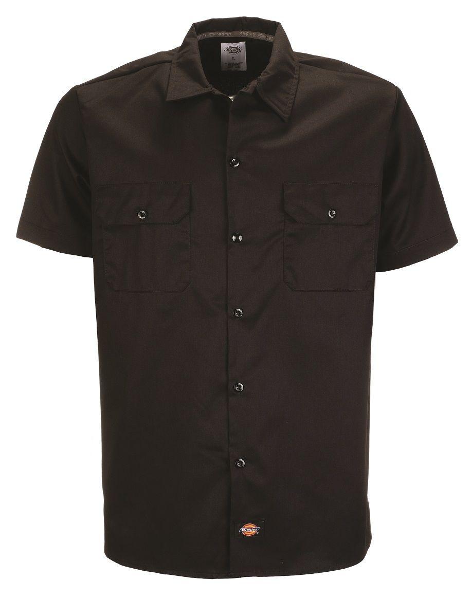 dickies hemd ws576 short sleeve slim fit work shirt. Black Bedroom Furniture Sets. Home Design Ideas